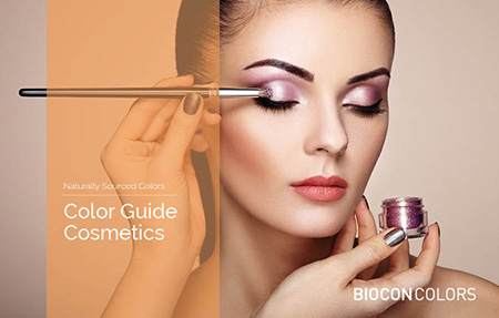 Coloring cosmetics and skin care - color guide